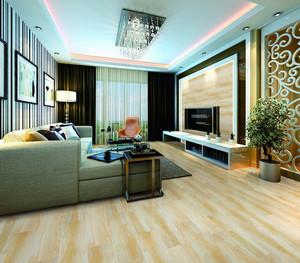 现代简约190平米客厅地板木纹贴图装修