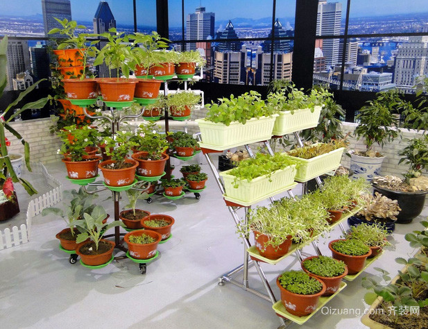 别墅大型现代简约风格室内阳台菜园装修效果图