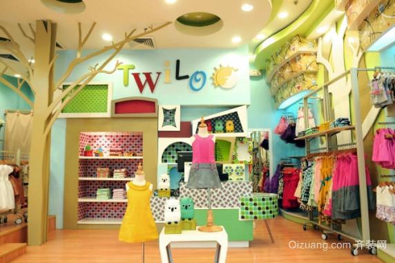 环境优雅的童装店装修效果图