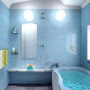 蓝色系浴室背景墙装饰