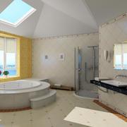 大型浴室通气窗装饰