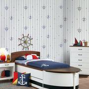 英伦地中海20平米儿童房卡通壁纸图片