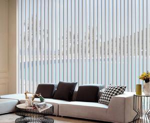 现代140平米家居客厅垂直百叶窗帘效果图