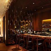 酒吧简约复古背景墙装饰
