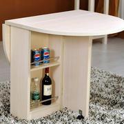 多功能一体化原木折叠桌椅装饰