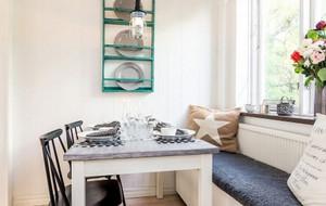 北欧清新小户型餐厅背景墙装饰
