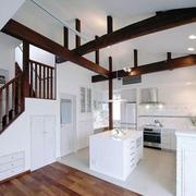 农村房屋原木厨房吊顶装饰