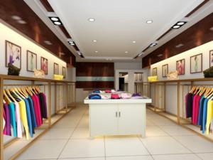 2016现代都市精美的小服装店装修效果图欣赏