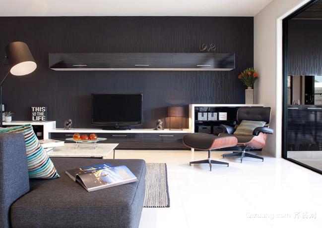120平米时尚风格液晶电视墙装修效果图大全