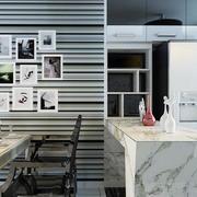 90平米单身公寓客厅后现代风格客厅吧台装饰