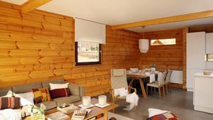 59平米朴素一室一厅木纹贴图装修欣赏