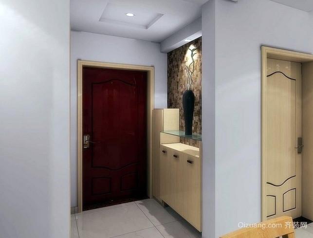 两室一厅简约风格客厅玄关鞋柜装修效果图