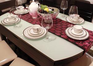 120平米复式楼餐厅可折叠餐桌装修效果图