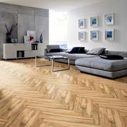 时尚120平米男士公寓客厅木纹材质贴图