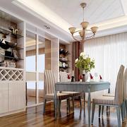 欧式简约风格餐厅酒柜隔断装饰