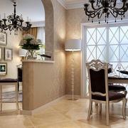 欧式简约风格复式楼客厅吧台装修效果图