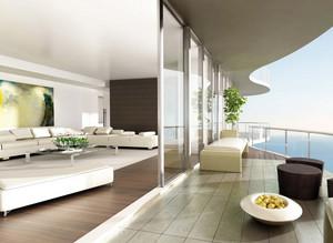 大户型农村住房现代简约风格阳台设计图