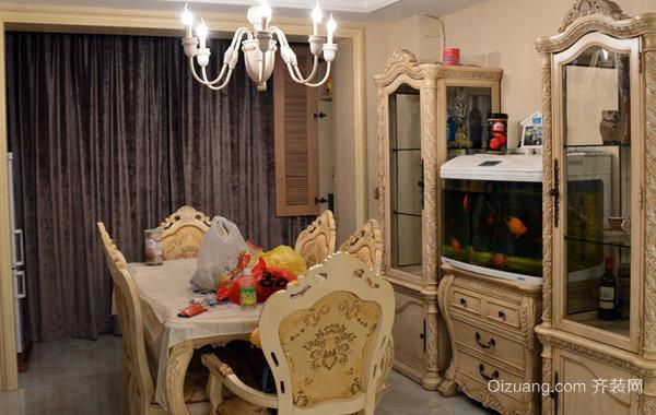 小型别墅欧式简约风格餐厅装修效果图