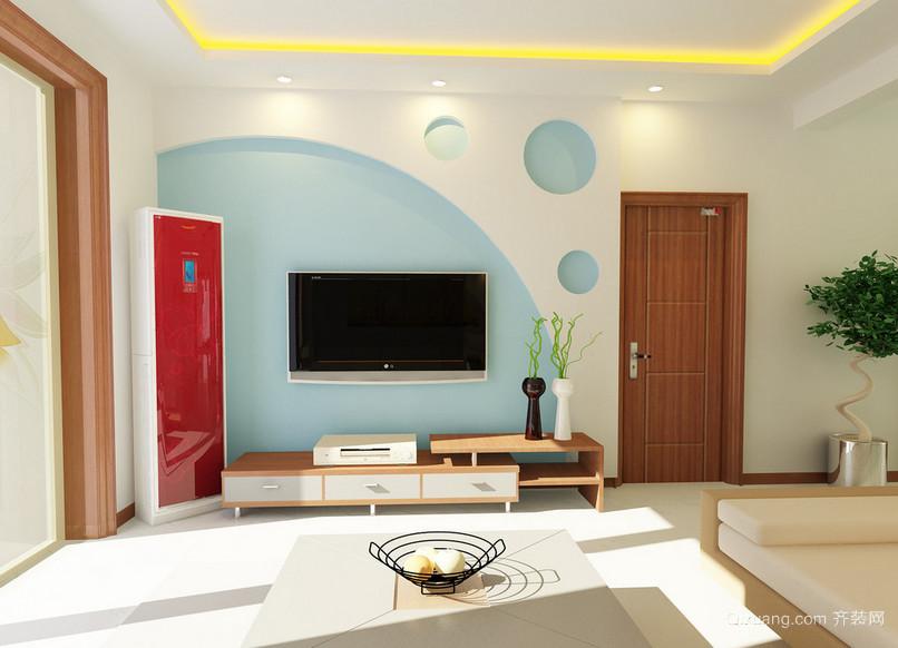 70平米小户型唯美精致的简约式客厅装修效果图