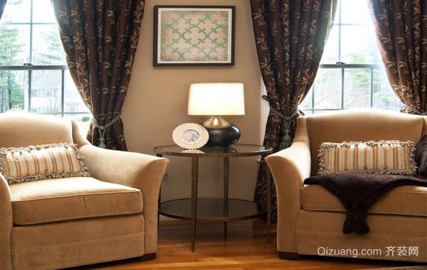 120平米大户型优美欧式客厅窗帘装修效果图实例
