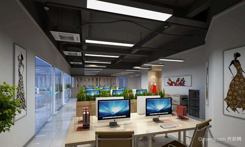 现代服装设计办公室装修实景图