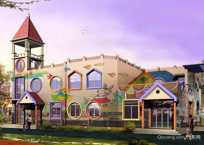 欧式风格奢华大气幼儿园整体教学楼装修图