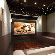 现代简约风格家庭影院沙发装饰