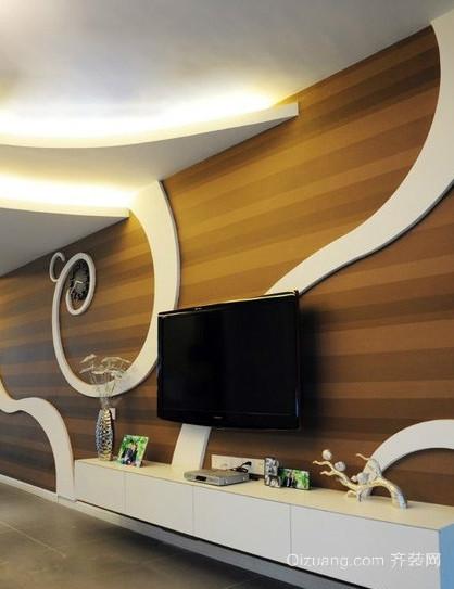 大户型宜家风格液晶电视墙装修效果图大全