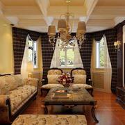 美式简约风格小户型客厅沙发装饰