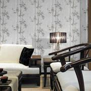 中式清新风格沙发背景墙装饰