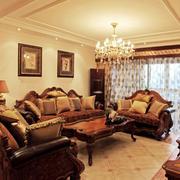 小户型美式简约客厅吊顶装饰
