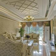 清新风格客厅吊顶图片