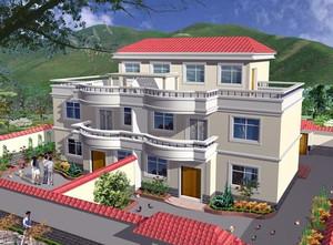140平米现代简约风格农村二层房屋设计图