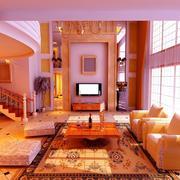 欧式大型挑空豪宅客厅装饰