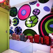 玩具店清新简约背景墙装饰