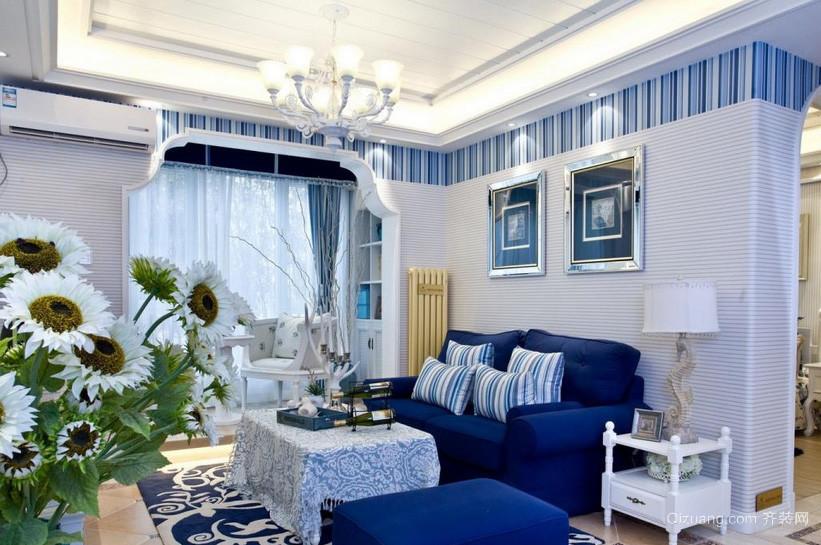 地中海87平米客厅吊顶装修设计效果图