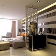 时尚大气单身公寓玄关设计装修效果图