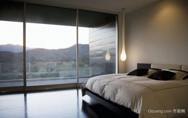 别墅时尚风格落地隔音玻璃窗装修效果图