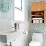 40平米小户型北欧风格清新卫生间装修效果图