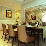 复式楼欧式简约风格餐厅餐桌椅装修效果图