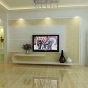 2016欧式风格大户型电视背景墙装修效果图