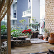 暖色调阳台背景墙图