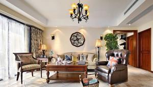 都市153平米客厅美式风格装修样板房