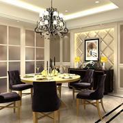 小型别墅欧式风格餐厅背景墙装修效果图