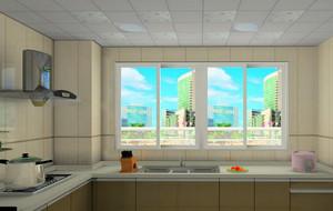 30平米各式各样简约厨房密集式吊顶装修效果图