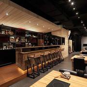 日式简约餐厅吧台装饰