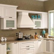 欧式奢华厨房悬挂橱柜装饰