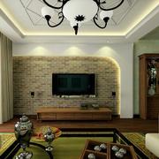 朴素美式90平米小户型客厅装修样板房