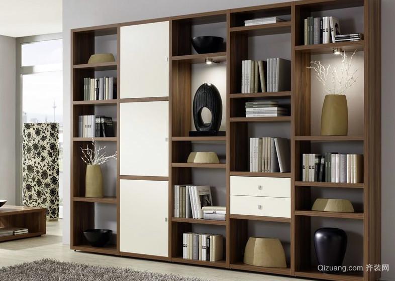跃层书房精致书柜图片大全