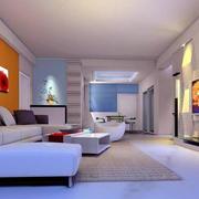 现代简约浅色系房间客厅装饰